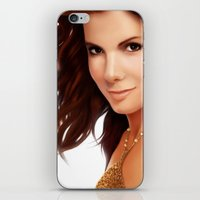 sandra dieckmann iPhone & iPod Skins featuring Sandra Bullock by RoPerez