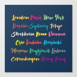 Worldwide United Capitals II Canvas Print