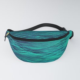Teal Feathers Fanny Pack
