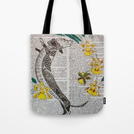 In The Year of the Earth Dog ( Dachshund and Orchids ) Tote Bag