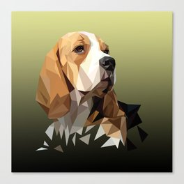 Beagle Hunting Dog Canvas Print