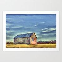 Barn-n-Stripes (Spearfish, Sd) Art Print