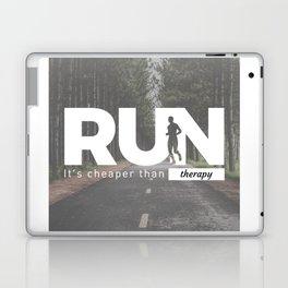 Run Cheaper Than Therapy Running Runners Treatment Laptop & iPad Skin