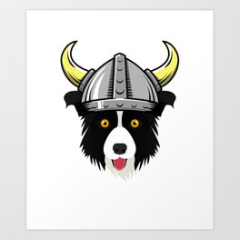Viking Border Collie - Skol - Vintage Puppy  Art Print