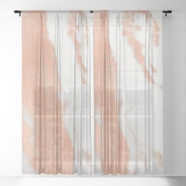 Marble Rose Gold Shimmer Light Sheer Curtain