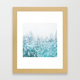 Snowy Pines Framed Art Print