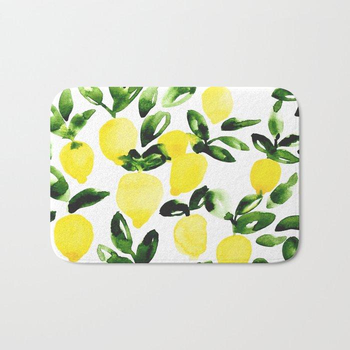 Summer Lemons Bath Mat
