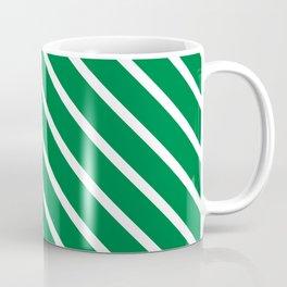 Emerald Diagonal Stripes Coffee Mug