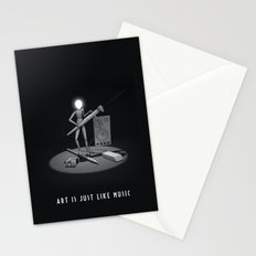 art is just like music Stationery Cards
