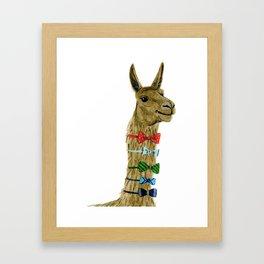 Party Llama Framed Art Print