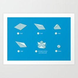 Step-by-step Origami Art Print