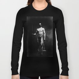 Male nude by Eugene Durieu 1853 Long Sleeve T-shirt