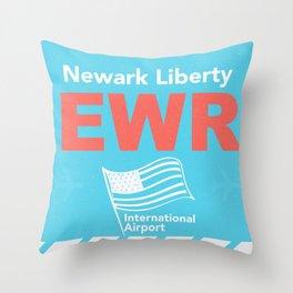 EWR Newark Throw Pillow