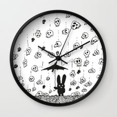 I'm only happy when it rains (skulls) Wall Clock
