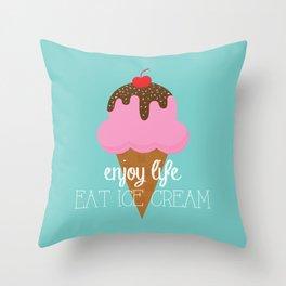 Sweet Cream Nothings Throw Pillow