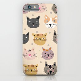 Cat You See I Love You iPhone Case