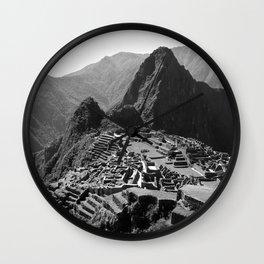 Machu Picchu v.2 Wall Clock