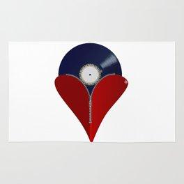 Love Music Zipper Heart Rug