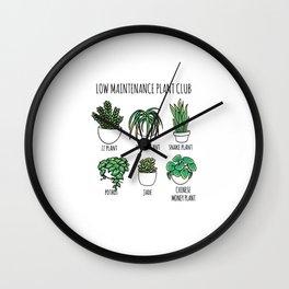 Low Maintenance Club Plant Design Wall Clock