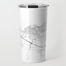 Minimal City Maps - Map Of Chania, Greece. Travel Mug