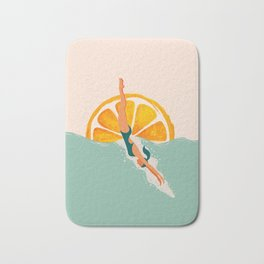Girl Dive Bath Mat
