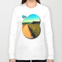 hiking Long Sleeve T-shirts featuring Hiking on a hot afternoon by Patrick Jobst