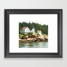 Bass Lighthouse Framed Art Print