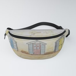 Beach huts drawing Fanny Pack