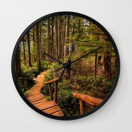 Cape Flattery Trail Wall Clock