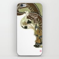 daenerys iPhone & iPod Skins featuring The Serpent Mother by Luis Uzcategui