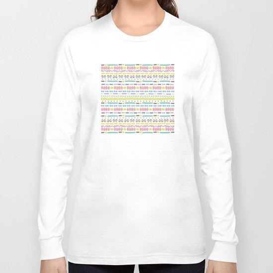 Retro Motivo Long Sleeve T-shirt