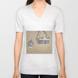 daydreams by the sea Unisex V-Neck