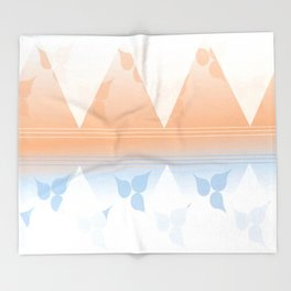 Delightful pink and blue leafs Throw Blanket
