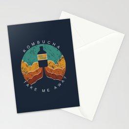 "KOMBUCHA ""Take Me Away"" Rocket // Mushroom Tea Graphic Design Scoby Health Drink Bubble Scooby Stationery Cards"