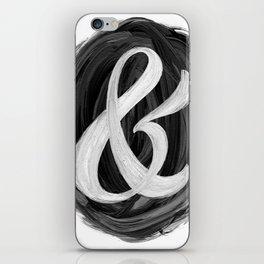 Thick Swirl Ampersand Black & White iPhone Skin