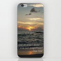 bon iver iPhone & iPod Skins featuring Bon Iver - Holocene by Alane Gianetti