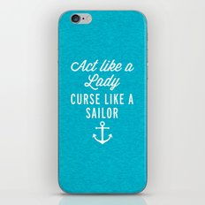 Curse Like A Sailor Funny Quote iPhone & iPod Skin