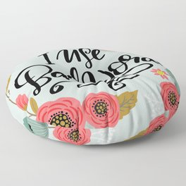 Pretty Not-So-Sweary: I Use Bad Words Floor Pillow