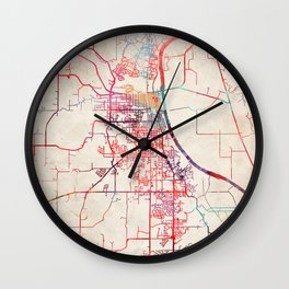 Leavenworth map Kansas KS Wall Clock