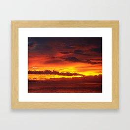 Costa Rican Sunset 4 Framed Art Print