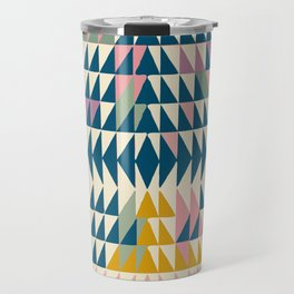 Colorful Geometric Triangle Design Travel Mug