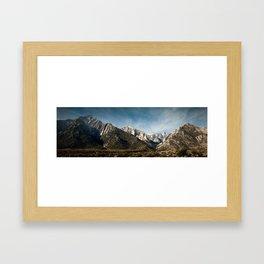 Mount Whitney - Lone Pine California Framed Art Print