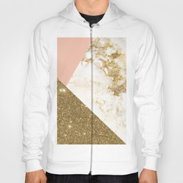 Gold marble collage Hoody