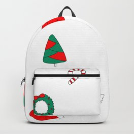 Winter Holiday Themed Illustration Merry Christmas! Backpack