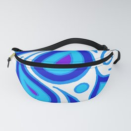 Blue Peacock Fanny Pack
