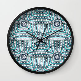 Folk Art Romanian tile Wall Clock