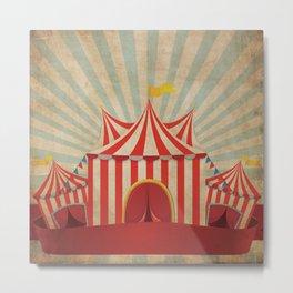 Shabby Circus Tent Retro Vintage Kitschy Metal Print