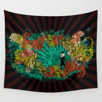 devil Wall Tapestries featuring Party Devil by ADIDA FALLEN ANGEL