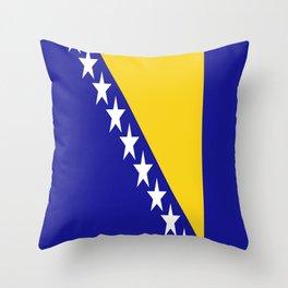 Flag of Bosnia – Bosnian,Bosniak,herzegovinian,bosna,Sarajevo,Balkan,yugoslavia. Throw Pillow