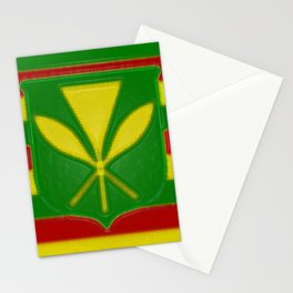 Fancy Flag:  Hawaii Kanaka Maoli Stationery Cards